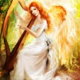 Love, angel with torn wings