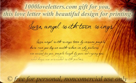 love letter angel wings