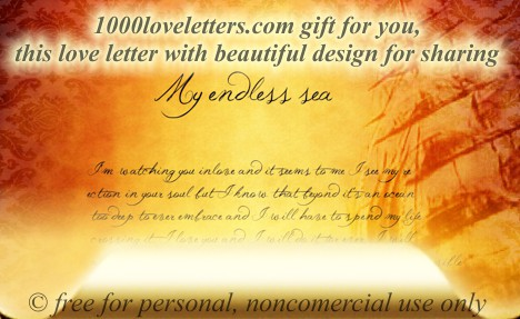 my endless sea love letter for her romantic